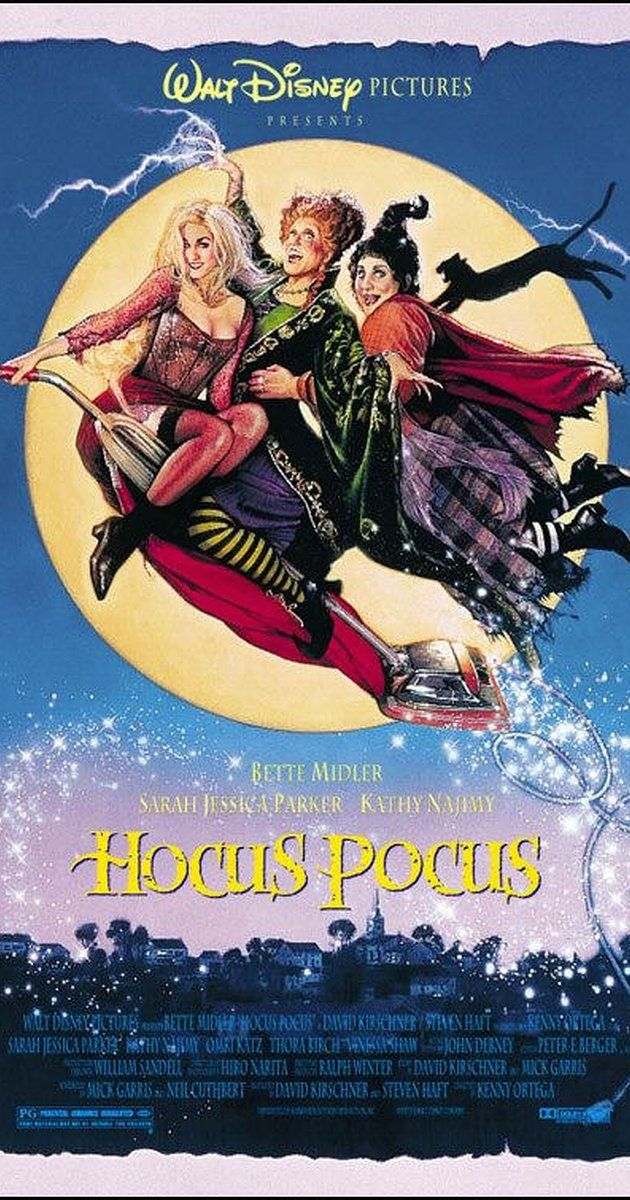 Hocus Pocus [PG] (1993) - After three centuries, three witch sisters are resurrected in Salem, Massachusetts on Halloween night, and it is up to two teenagers, a young girl, and an immortal cat to put an end to the witches' reign of terror once and for all.