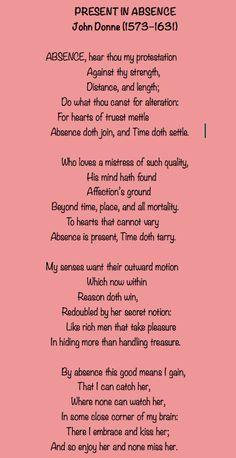 Outlander-John Donne Poem/Present in Absence