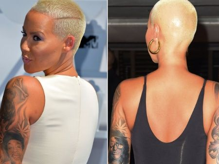 Amber Rose replaces Wiz Khalifas tattoo on her arm