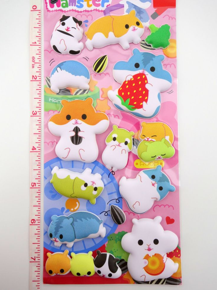 SUPER PUFFY Japanese hamster 3D stickers by 2FooDogs