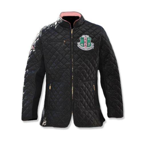 AKA black quilted jacket