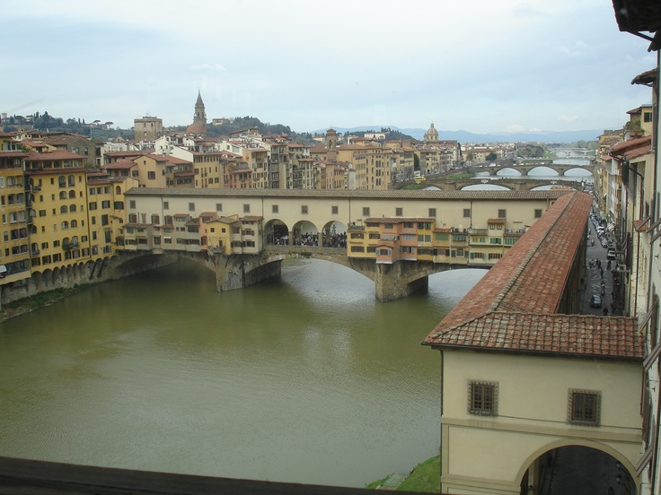 Picture taken from the Window in the Uffizi Gallery, Florence, Italy