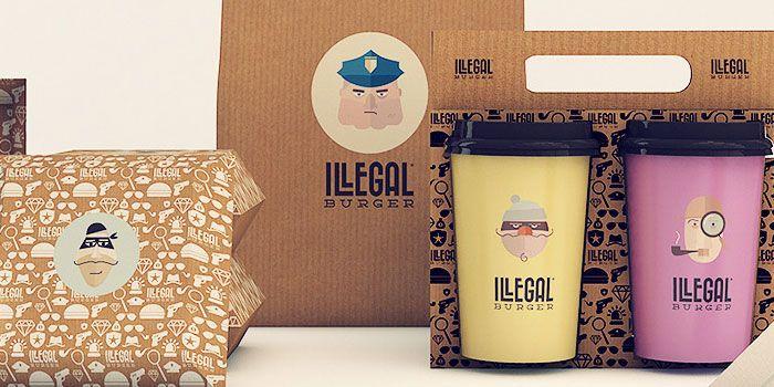 Illegal Burger - The Dieline -