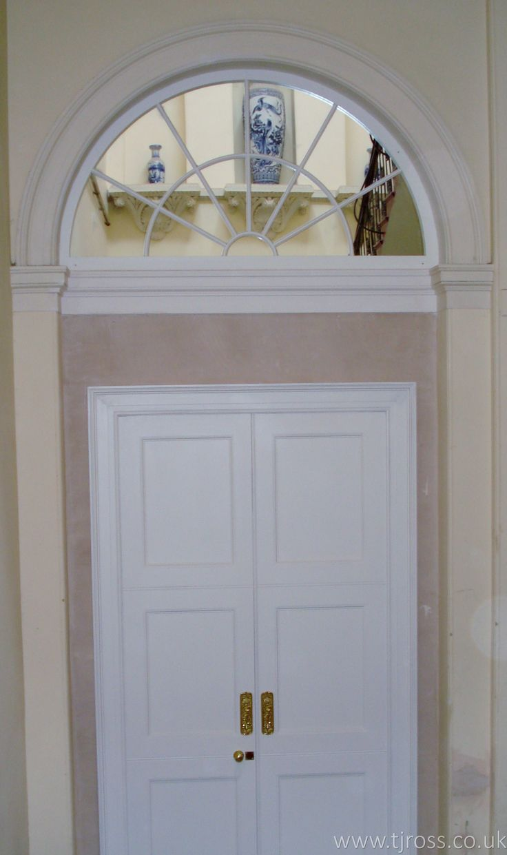 Internal Double Doors and Curved Fan Light, bespoke doors, historical building