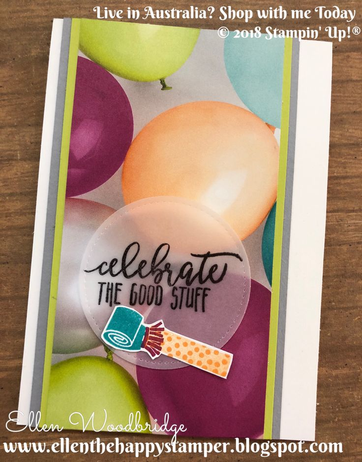 I'm totally in love with this Picture Perfect Birthday 6x6 Paper Stack and Stamp Set from Stampin' Up! and I just can't bear to hide the st...