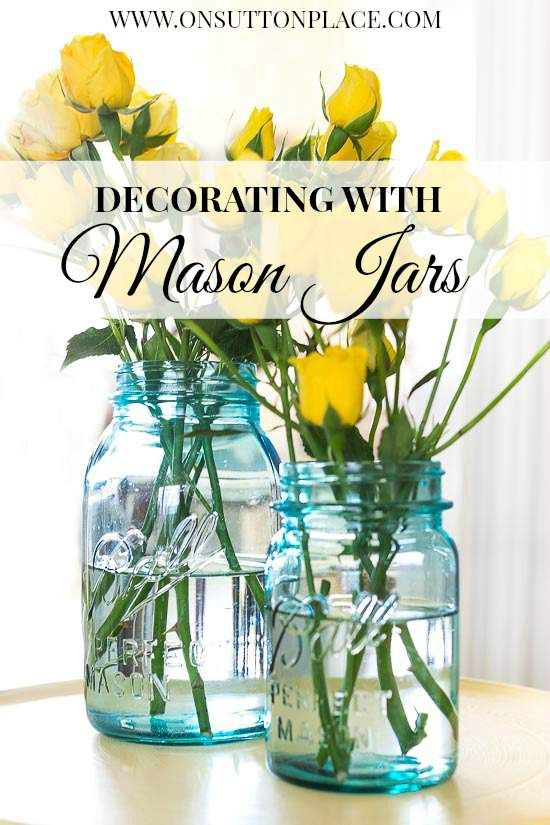 Simple and budget-friendly ways to use vintage mason jars in your decor.