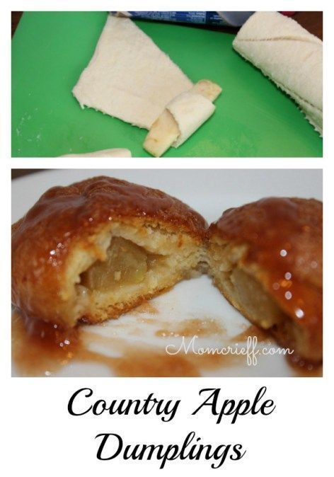 Country apple dumplings. Tastes like apple pie but a fraction of the ...