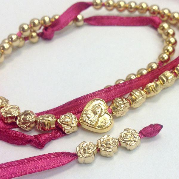 Bracciale rosario 5 decine con cuore e rose   Egoriccione #rosary #heart