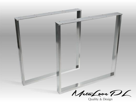 "28"" CRUDO 60.20 Metal Table Legs, Height 26"" - 32"" SET(2)"