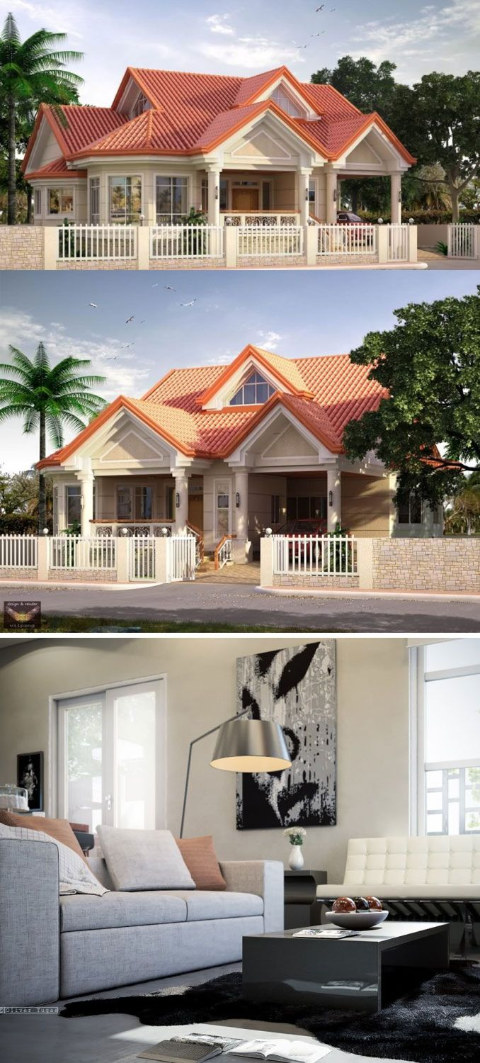 One Storey Contemporary House With Spectacular Outside View Bungalow House Design One Storey House Best House Plans