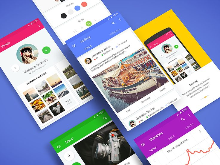 Material UI Kit—-Ramotion.com