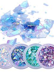 2g*4+Boxes+Fluorescent+Nail+Flakies+Glass+Paper+Irregular+Paillette+Nail+Art+Glitter+Sequins+Flakes+–+USD+$+6.54