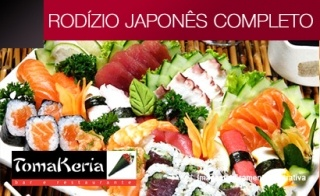 Delicioso Rodízio Japonês COMPLETO na Tomakeria no Campo Belo...