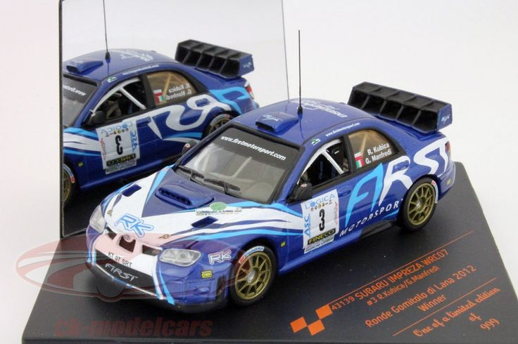 Subaru Impreza WRC07, Winner Gomitolo Ronde di Lana 2012, No.3, R.Kubica / G.Manfredi. Vitesse, 1/43. Price (2016): 18 EUR.