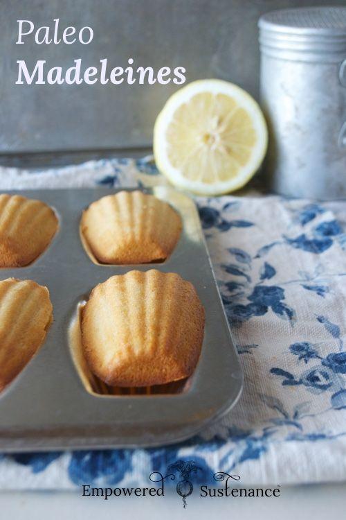 Lemon paleo madeleines recipe http://empoweredsustenance.com/paleo-madelines/