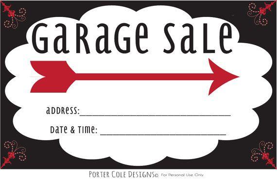 Garage Sale Complete Printable Kit by PorterColeDesigns on Etsy, $7.50: Estates Yard, Yard Moving, Garage Estates, Garage Sales