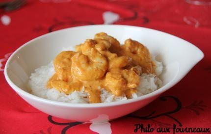 Crevettes au curry au Thermomix