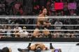 The Rock, in his first wrestling match since heading for Hollywood seven years ago, showed no signs of ring rust in a triumphant return to Madison Square Garden Sunday night.