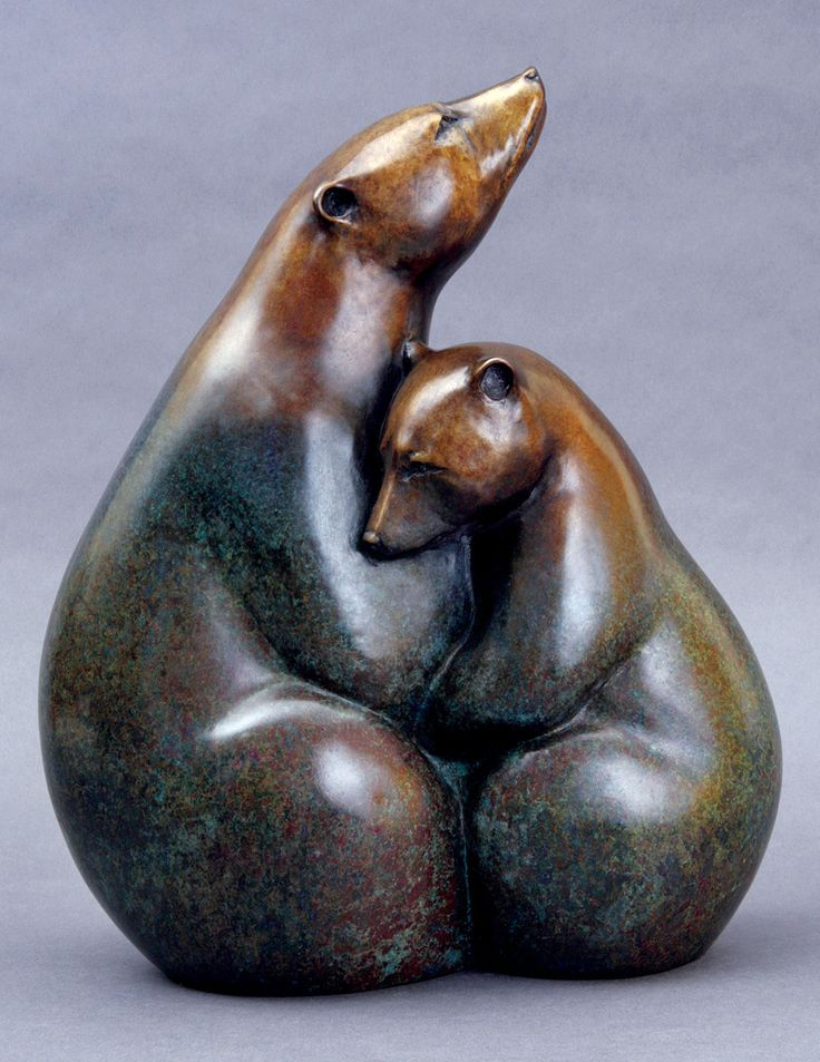 "georgia gerber bronzes - Ice Bears II 2009 / Edition of 9---40""H x 33""W x 19""D"