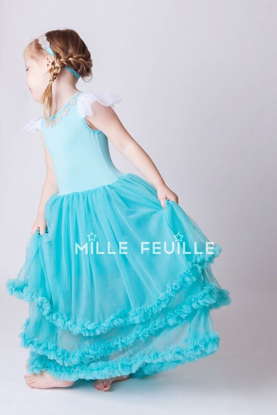 Frozen Princess Elsa dress Couture with by MilleFeuilleBoutique