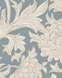Tapet Chrysanthemum Toile China Blue/Cream från William Morris & Co