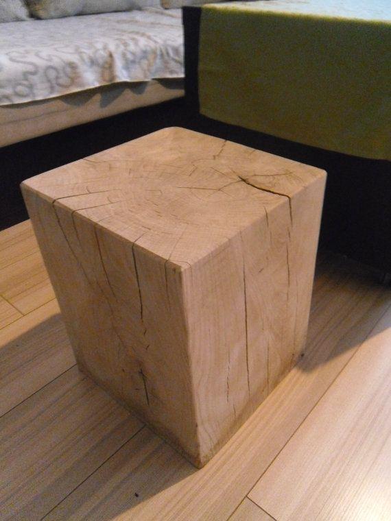 Tabouret chêne fauteuil table basse bois arbre souche table coffre en bois blanc chevet Guéridon Eiche Stuhl Tisch Hocker Schemel Holz
