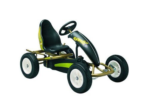 BERG Toys 06.25.02.00 Gold AF Pedal Go Kart, ombines style and quality effortlessly. Its aerodynamic spoiler and compact size let you move fast and its low profile tires keep you glued to the road and show off your extra large white rims. Be sure to get the awesome Gold AF Pedal Go Kart for all your adventures!