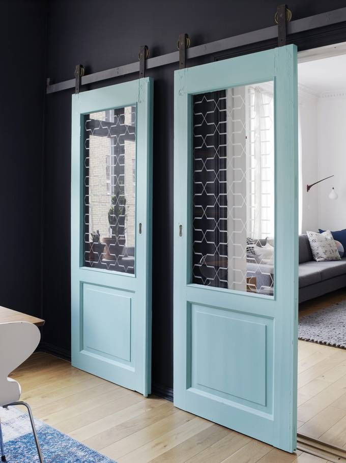Great idea and great looking doors in a flat in Oslo