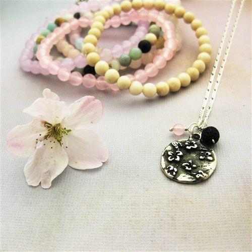 Cherry Blossom Aromatherapy Necklace