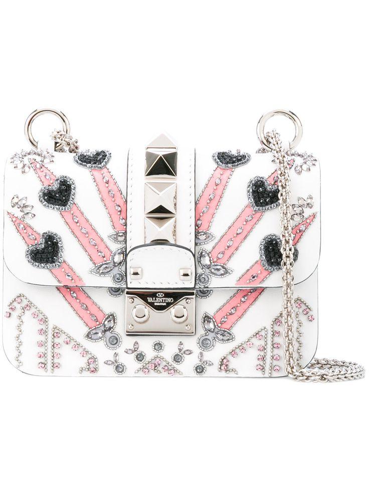 Valentino Valentino Garavani Glam Lock Love Blade shoulder bag