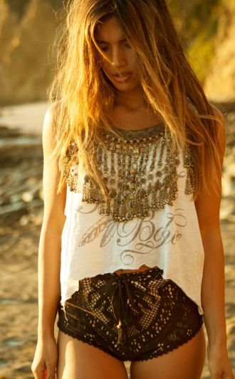 Statement And Crochet Shorts