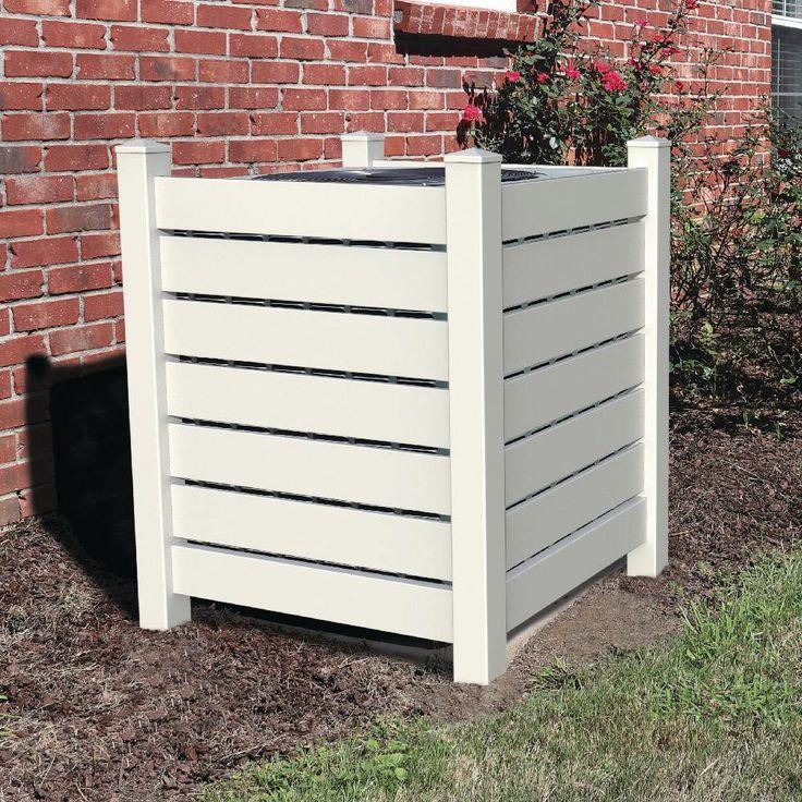 4 ft. x 3.5 ft. White Vinyl Open Enclosure Fence Panel Kit
