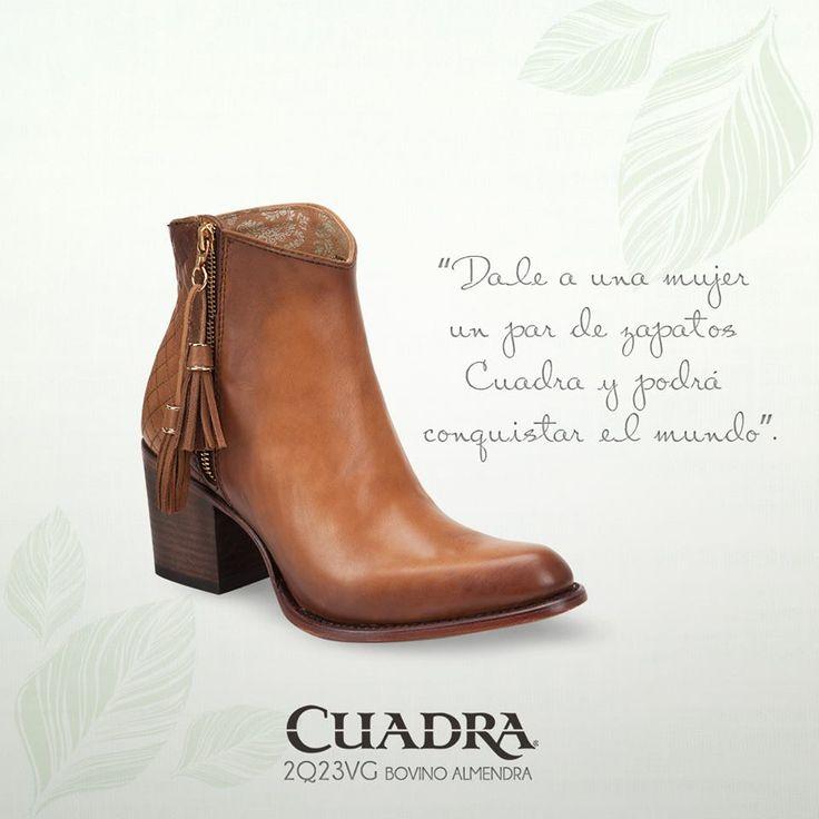 El mundo de hoy, es el de la mujer Cuadra. #cuadra #botas #moda