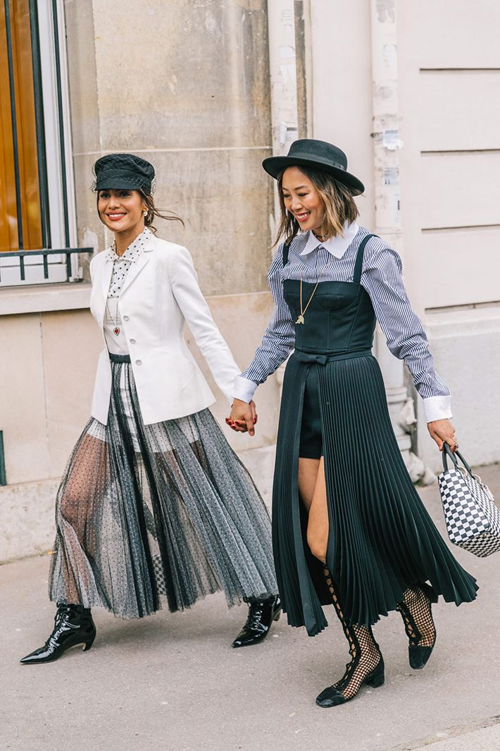 Best Street Style at Paris Fashion Week Fall 2018 trend street style fashion out…