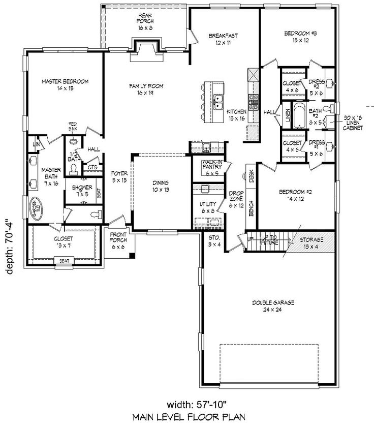 Ranch Traditional House Plan 54066 To Be House Plans And The Shape on greensboro house plans