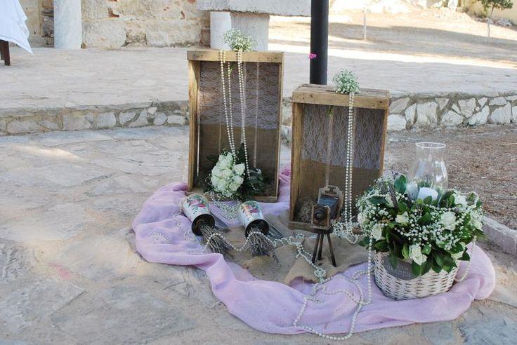 Καλοκαιρινος ρουστικ γαμος με σταχυα