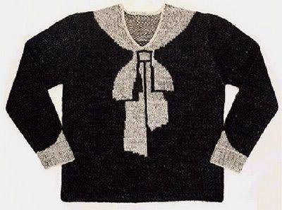 The original trompe l'oeil sweater, by Elsa Schiaparelli.