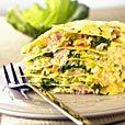 Delhaize recept - Lasagne van groene kool en zalm en een toplaagje van Feta