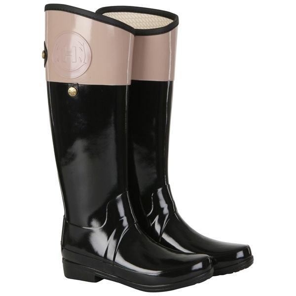 Hunter Women's Regent Carlyle Wellington Boot - Black/Camel