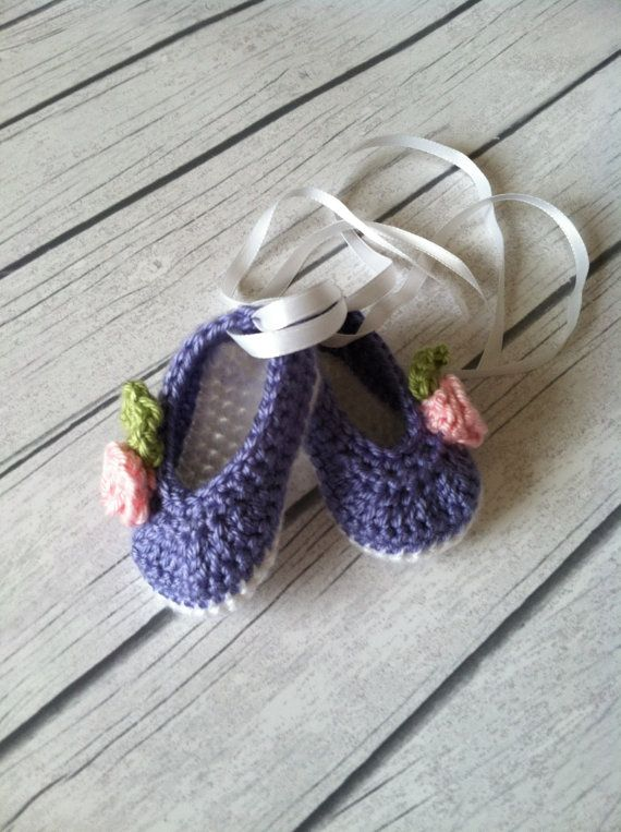 Crochet Baby Ballet Shoes Made Order Etsy