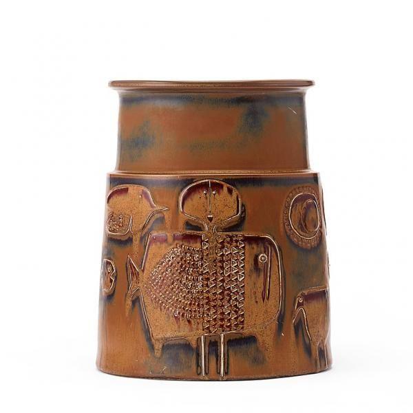 Stig Lindberg - 1916-1982 - STIG LINDBERG, vas av stengods, Gustavsbergs studio [...], Design Moderne et Nordique à Bukowskis | Auction.fr