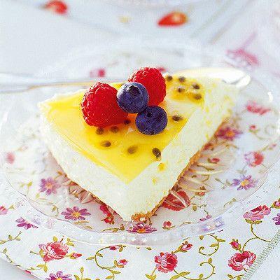 Bild på Citroncheesecake med passionsfrukt