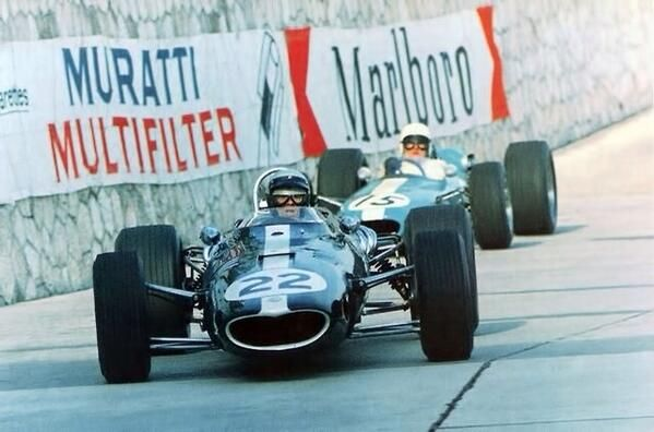 Richie Ginther (Eagle) and Bob Anderson (Brabham), Monaco GP 1966