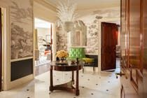 Fifth Avenue gallery with Italian glass chandelier and Italian scenes wallpaper  Gallery  TraditionalNeoclassical by Brockschmidt & Coleman, LLC