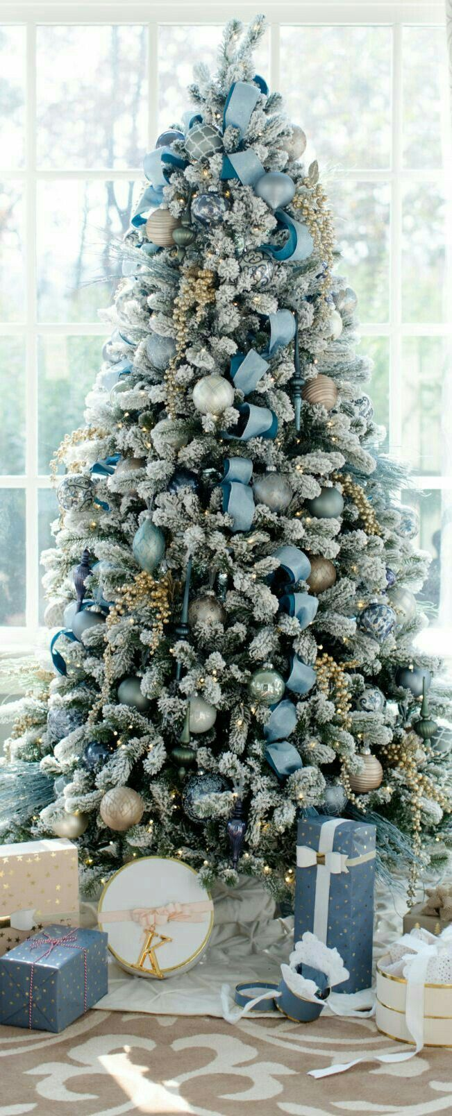 Pin by We're Two Pinners. on Blue Christmas. Silver