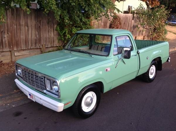 77 Dodge Shortbed Stock Ex Forestry Service Truck