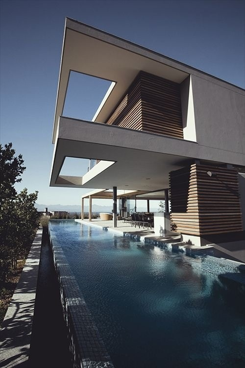 not a fan of the architecture just like the cantilever over the pool.