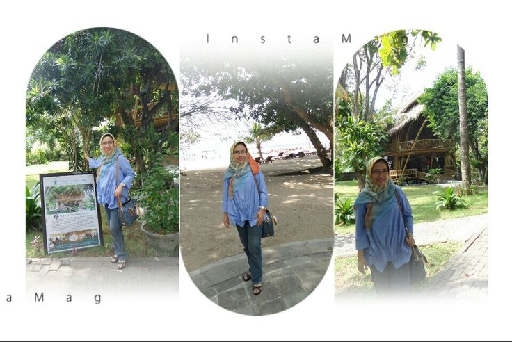 Top from Rryni house Bag from Fossil sidney satchel blue multi Sanur Beach Bali 2015
