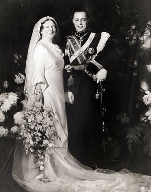 Princess Juliana of the Netherlands and Prince Bernhard of Lippe-Biesterfeld, January 7, 1937