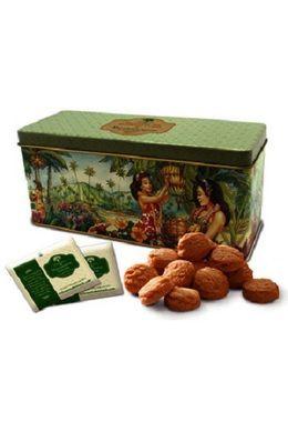 Tea & Cookie Set With Macadamia Sunrise Herbal Tea & Macadamia Nut Cookies